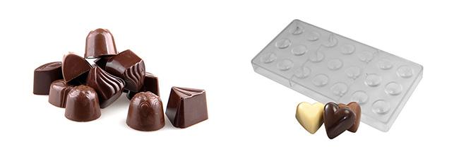 نمونه محصول دستگاه قالب گیری شکلات