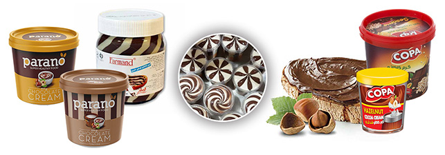 نمونه محصول پر کن شکلات صبحانه